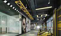 建身房私教区3D模型