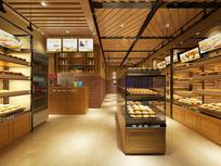 面包店门头加室内模型