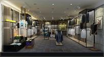 休闲风服装店3D模型素材