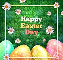 复活节绿地上的彩蛋