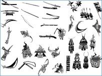 日本武士素材