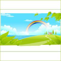 自然卡通背景图案