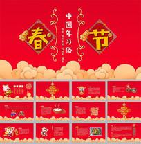 2019春节中国年习俗PPT