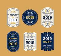2019年简洁新年标签