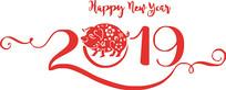 2019年猪字体