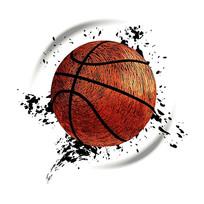 抽象动感篮球设计