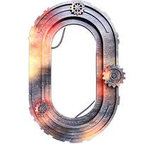 金属齿轮数字0