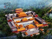 普陀禅寺鸟瞰图寺庙设计