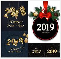 圣诞诞吊球和2019数字