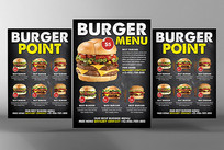 西餐汉堡菜单图片psd