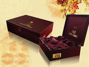 紅酒包裝盒效果圖模板