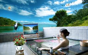平板电视广告设计素材