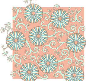 粉色底花边印花图案