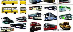 旅游大巴公共汽车矢量素材