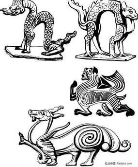 龍形裝飾性吉祥圖案