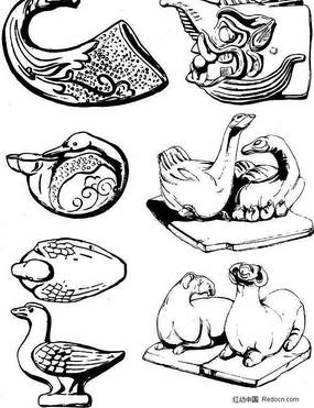 陶瓷吉祥圖案動物