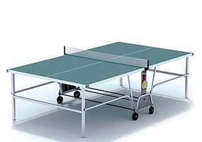 3D乒乓球桌模型