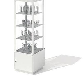 商场酒杯类货柜3D模型
