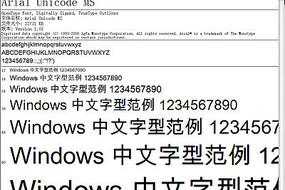 著名Arial字體的中文字體(中英文均可用的超漂亮字體,很有香港味)