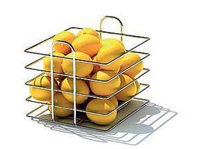 3D不锈钢水果篮模型