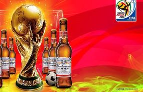 南非世界杯百威啤酒海报