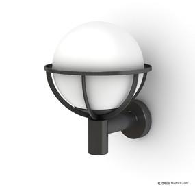 精美球形壁灯3D模型