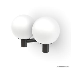 双球形壁灯3D模型
