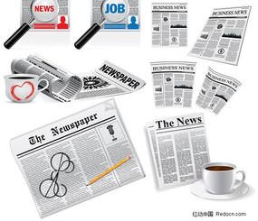 外国报纸矢量素材