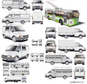 交通工具汽车矢量图