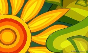 花朵绿叶图片素材