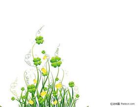 欣欣向荣植物花纹植物花纹矢量图