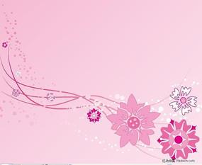 菊花植物花纹矢量图