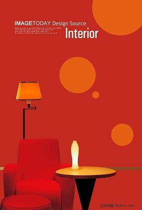 沙发小台灯素材