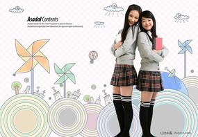 女学生图片素材