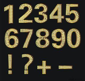 阿拉伯數字鉆石矢量字