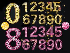 原创矢量分层阿拉伯数字