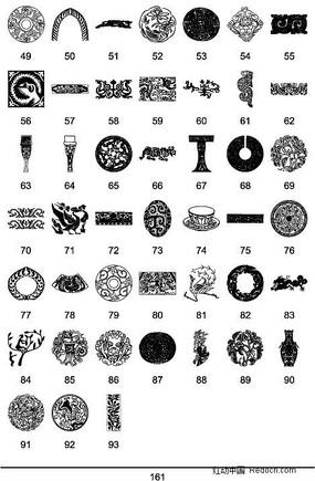 中國傳統圖案矢量素材大全8 (1)
