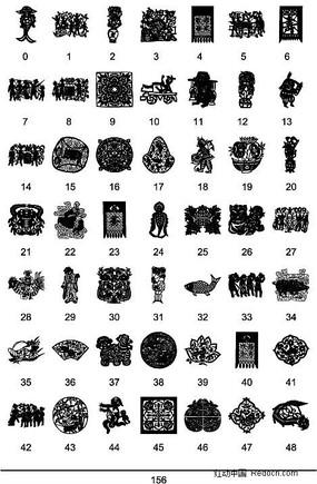 中國傳統圖案矢量素材大全7