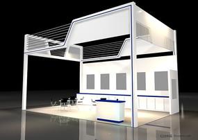 展覽展臺展柜展示空間單面式