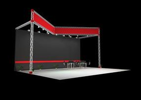展覽展臺展柜展示空間半開式簡單