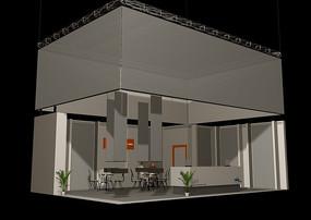 展覽展臺展柜展示空間方塊元素