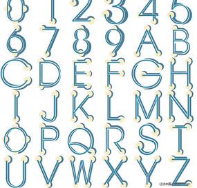 英文数字字体设计