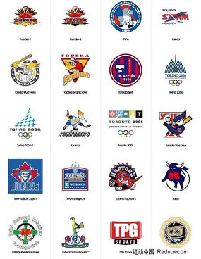 各种体育运动标志
