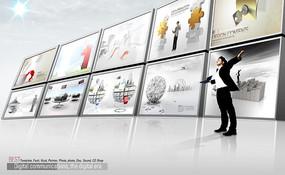 展厅形象展板设计模版
