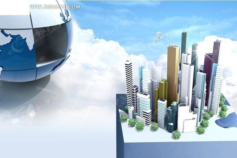高楼大厦3D模型图图片