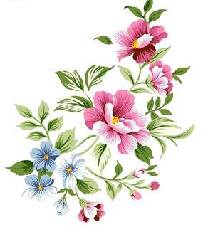 高清粉色花朵底纹PSD