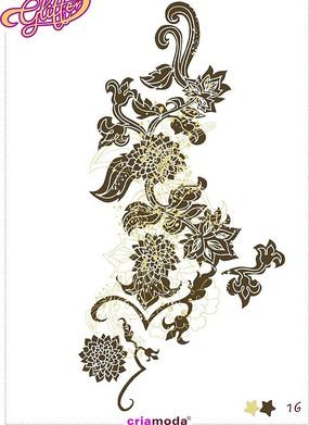 菊花標簽圖案