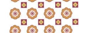 八瓣花與方塊四方連續圖案
