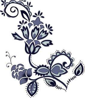 时尚墙绘花纹图案