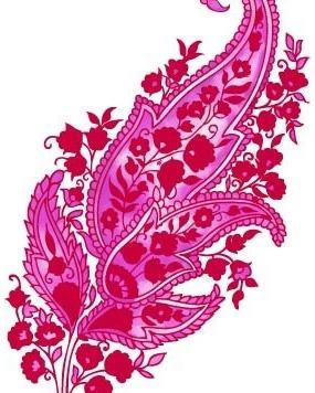 鲜艳的粉色时尚花纹